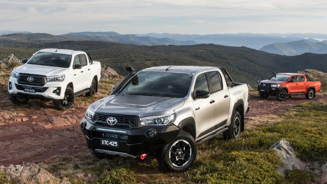 Toyota's HiLux is king of the showroom at the moment. Picture: Supplied.