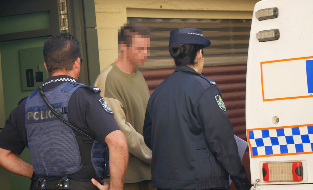 Maryborough man, aged 31, leaves court after being sentenced on two counts of choking.