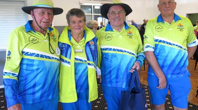 GAMES FEVER: Burleigh Waters Probus Club members at the 2018 Commonwealth Games as volunteers.