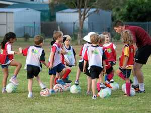 Region's youngsters keen to give football a try