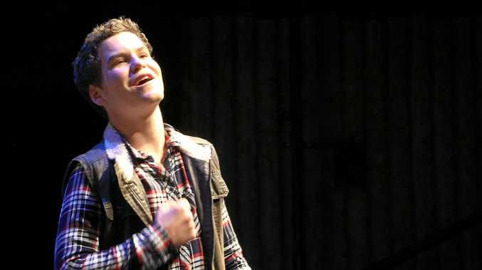 THEATRE DREAM: Ben Anderson performing in A Midsummer Night's Midterm at USQ Artsworx Theatre.