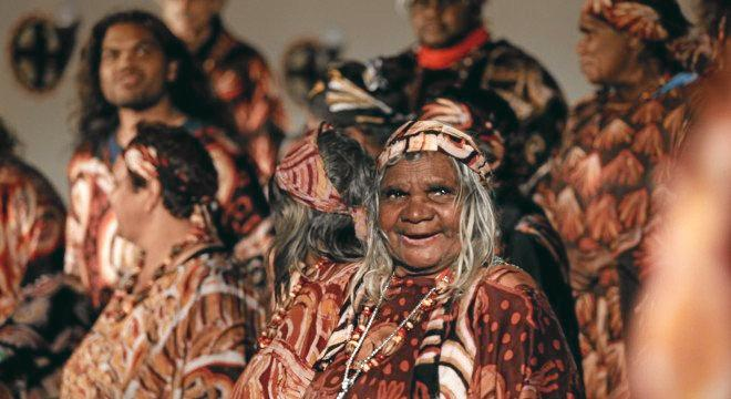 MUSIC TRADITION: A still from the 2017 film The Song Keepers, which delves into the rich history of the Central Australian Aboriginal Women's Choir.