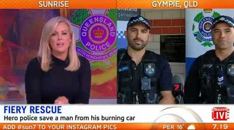 Gympie police officers grab the attention of the nation before breakfast this morning on live television.