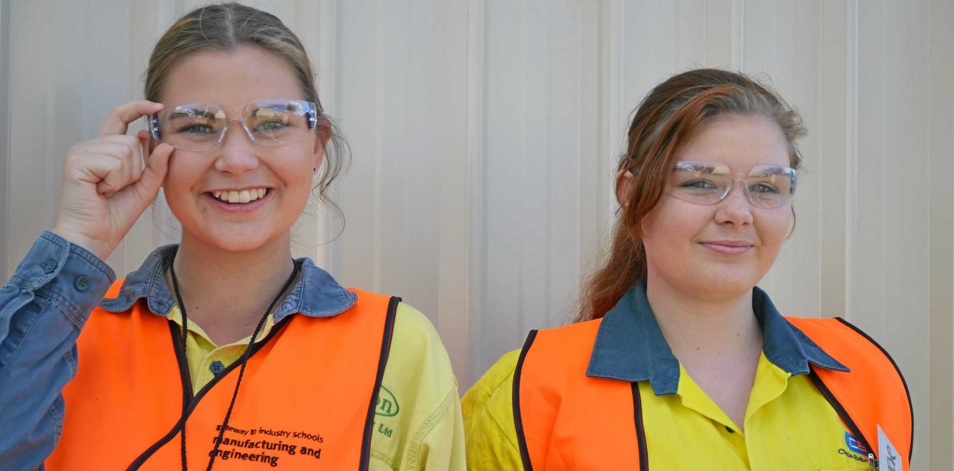 FIRST-HAND LOOK: Sarah Broadhead and Naomi Sloane were part of the Women Who Weld program.