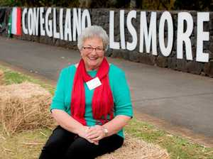 ITALIAN CONNECTION: Julie de Nardi points out the sister-city connection between Lismore and Conegliano in Italy. A tree is to be planted this month in Spinks Park in recognition of that link.