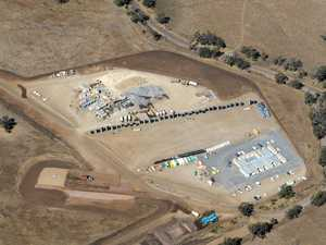 BIRD'S EYE VIEW: Wind farm construction under way