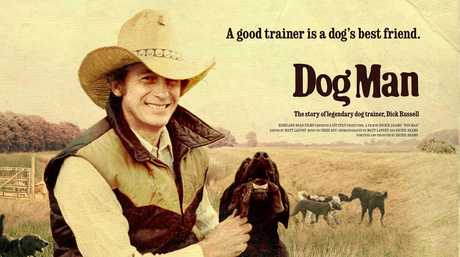 Dog trainer Dick Russell in the film Dog Man.