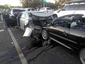 UPDATE: Two hospitalised after multiple car crash in Rocky