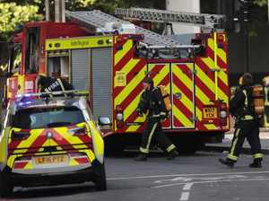 Pop star escapes London hotel blaze