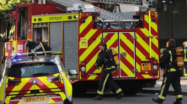 Emergency services at the scene. Picture: Getty Images