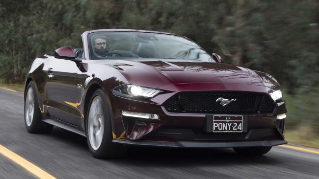 Mustang convertible: Tops out at $74K-plus