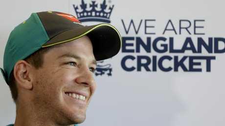 Australia cricket team captain Tim Paine. Picture: AP