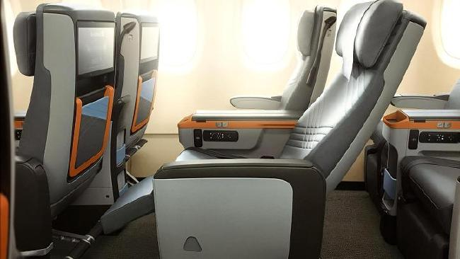 New and improved Premium Economy seats on the Singapore Airline A380. Picture: Singapore Airlines