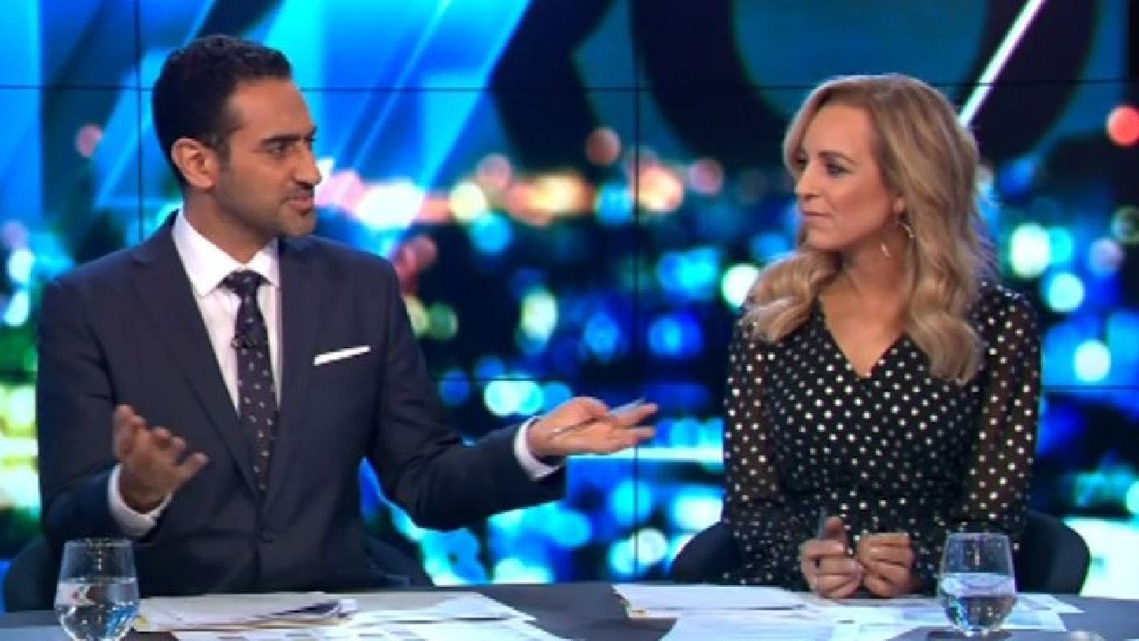 Waleed Aly slammed Kim Kardashian's involvement in Alice Marie Johnson's pardon. Picture: Channel 10