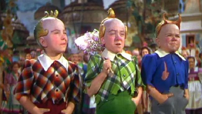 Jerry Maren, who played the green dressed munchkin in The Wizard of Oz, has died at 98. Picture: Supplied
