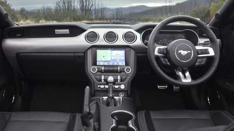 Mustang cockpit: Added driver assistance but some cabin plastics seem cheap