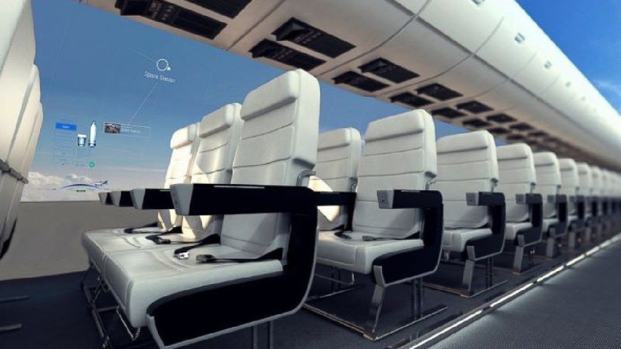 The windowless planes will provide travellers with more room. Picture: Centre for Process Innovation