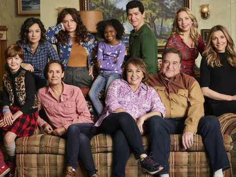 The stars of the Roseanne reboot.  Picture:  ABC