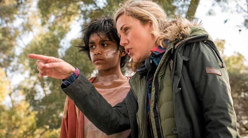 BEHIND THE CAMERA: CQ's won filmmaker, Yolanda Remke directs Simone Landers (who plays Thoomi)in Cargo which will premiere tonight in Yeppoon.