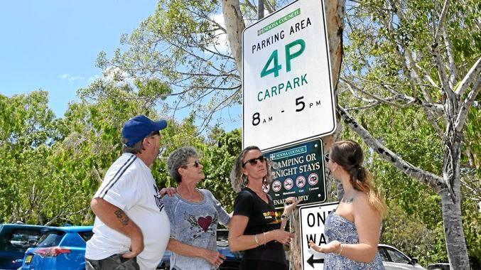 CONFUSED: Folk were unhappy when Noosa Heads all day parking was cut to four hours, but 3P Hastings Street cryptic signs has led to parking fines.