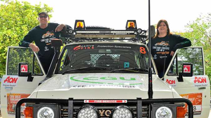 RARING TO GO: Nigel and Gayle Pattinson gear up for the Great Endeavour Rally in their 1986 Toyota LandCruiser.