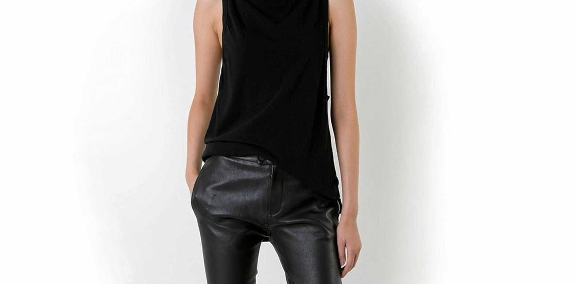 A pair of Bassike leather pants