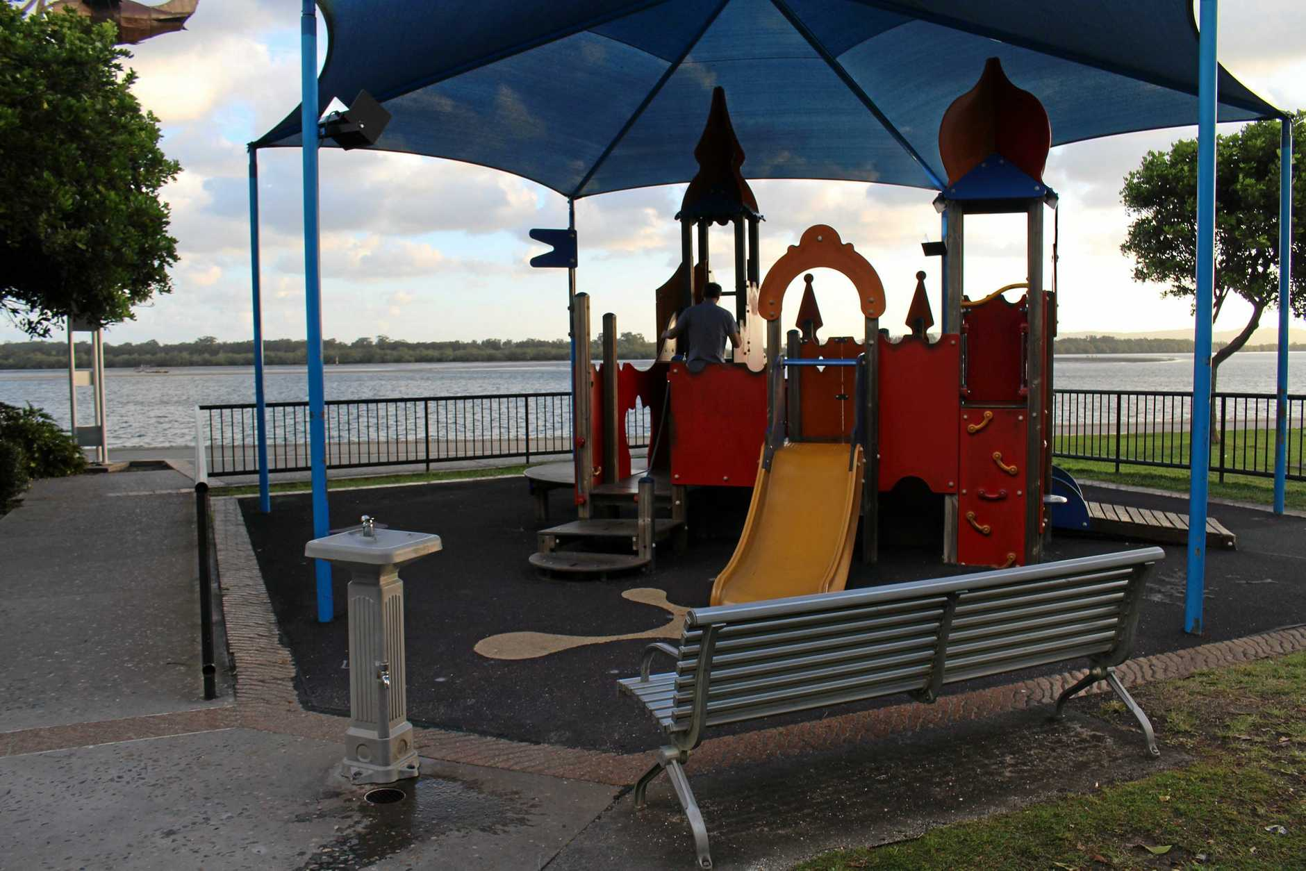 The Fawcett Park playground will be closed until the end of the month, weather permitting.