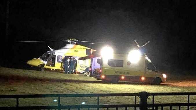 Woman seriously injured in crash
