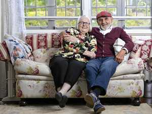 How half a moustache made for 60 years of marriage bliss