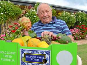 Duranbah's Bob is surrounded by the fruits of his labour