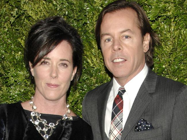 Kate Spade and husband Andy Spade. Picture: Getty