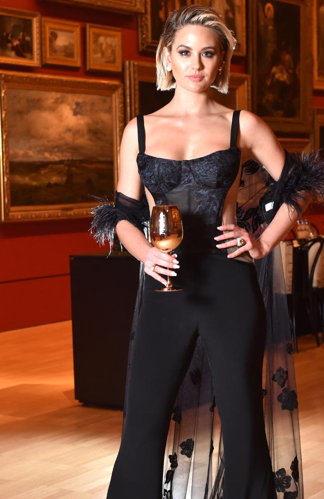 Jesinta Franklin representing Moet & Chandon at an event in Melbourne last week. . Picture: Jay Town
