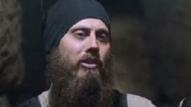 Abu Yousef al-Australi aka Tareq Kamleh appearing in an ISIS propaganda video in July 2017. Unverified reports say the Australia nicknamed Dr Jihad was killed in the fall of Raqqa in September/October 2017.
