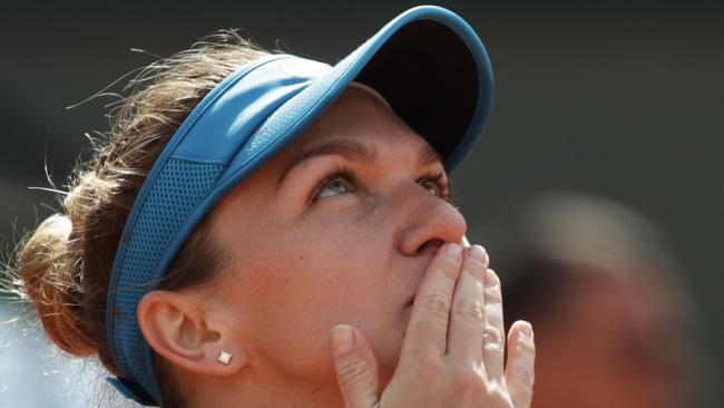 Romania's Simona Halep has advanced to the French Open final.