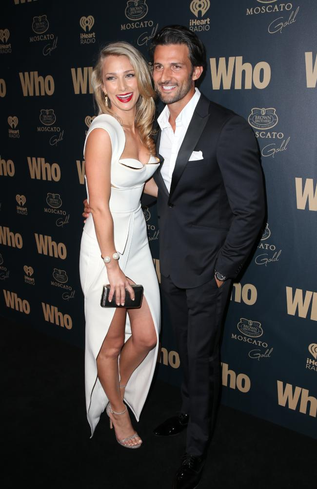 Anna Heinrich and Tim Robards at the 2014 Who Magazine Sexiest People party. Picture: Richard Dobson