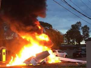 Pilot killed in fiery light plane crash-landing
