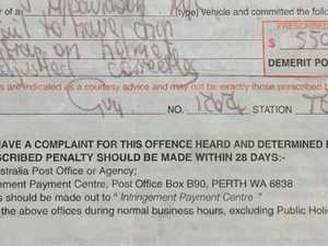 Man fined $550 over 'ridiculous' rule