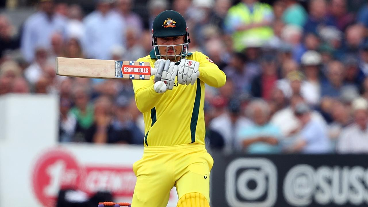 Marcus Stoinis hits out against Sussex. (Photo by Bryn Lennon/Getty Images)