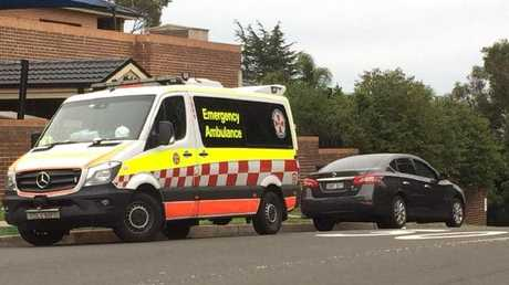 The boy was taken to The Children's Hospital at Westmead. Picture: TNV