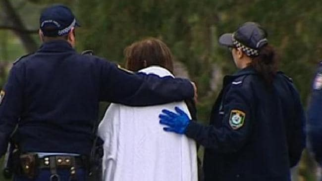 A woman, aged in hers 60s, was treated at the scene by NSW Ambulance paramedics for shock. Picture: Seven