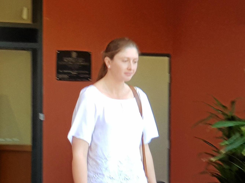 KEY WITNESS: Amanda Loader leaves Gladstone Court House on Friday June 8 2018.