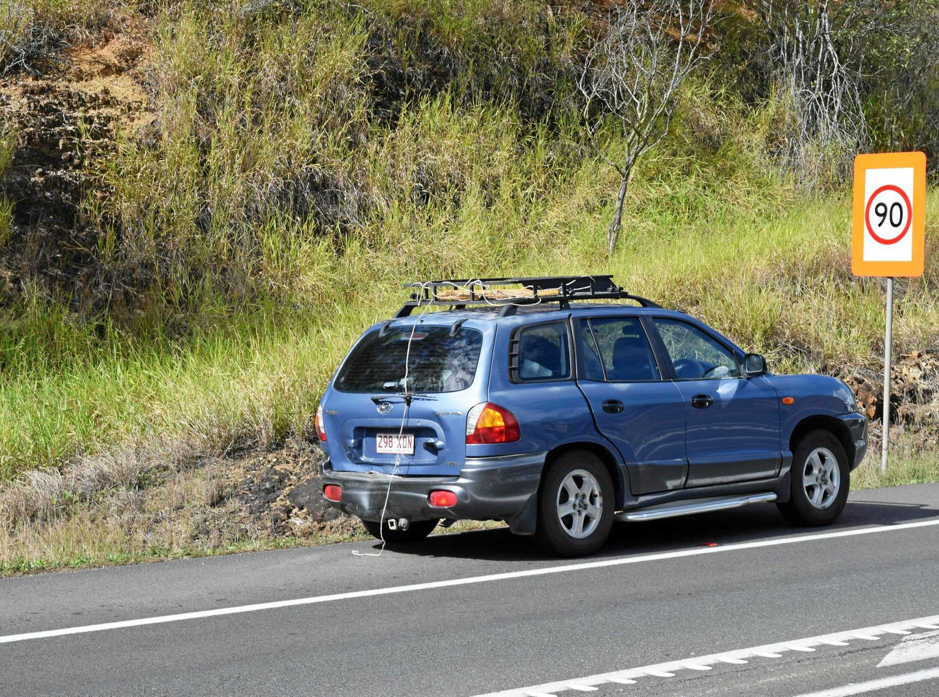 HIGHWAY CRASH: Two people were taken to hospital after a crash near the Kilkivan/Wide Bay Highway turnoff.