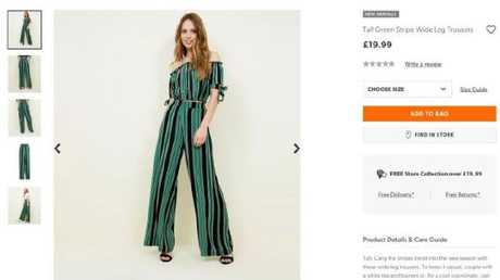 The smaller New Look green-striped trousers.
