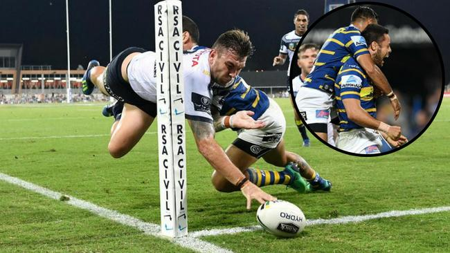 Parramatta caused an upset against the Cowboys in Darwin.