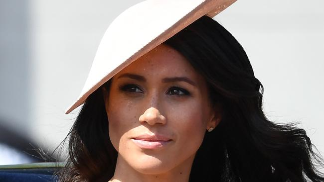 The Duchess of Sussex attends Trooping the Colour 2018 at Buckingham Palace. Picture: Mega