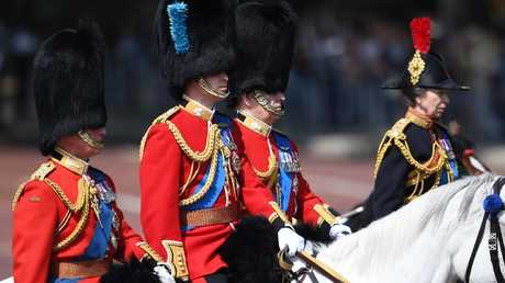 Prince Charles, The Duke of Cambridge, The Duke of York and Princess Anne attend Trooping the Colour. Picture: Mega