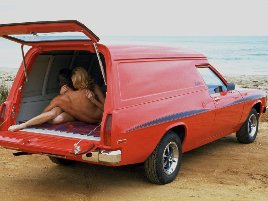 Sandman: Du Bois fitted his out as a tradie van — plus mirrors and mattress