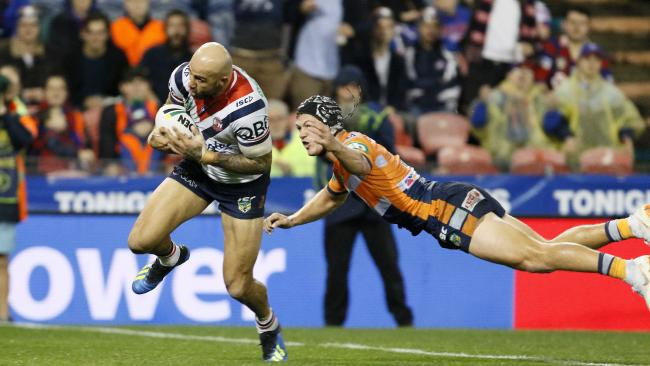 The Roosters proved too strong for the Knights in Newcastle.