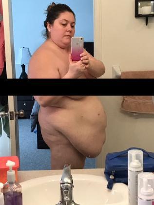 Amanda Nauffts weighed 150kg at her heaviest.
