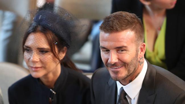 David and Victoria Beckham. Picture: Danny Lawson